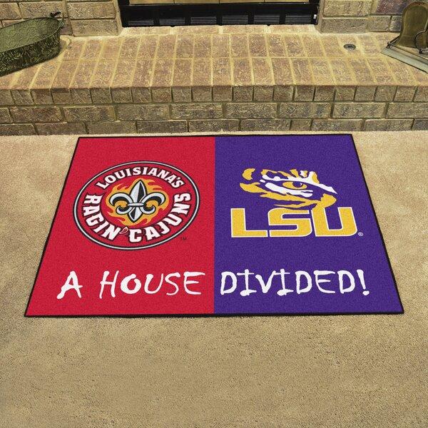 House Divided - UL-Lafayette / LSU Doormat by FANMATS