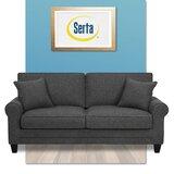 Copenhagen Microfiber 73 Rolled Arm Sofa by Serta at Home