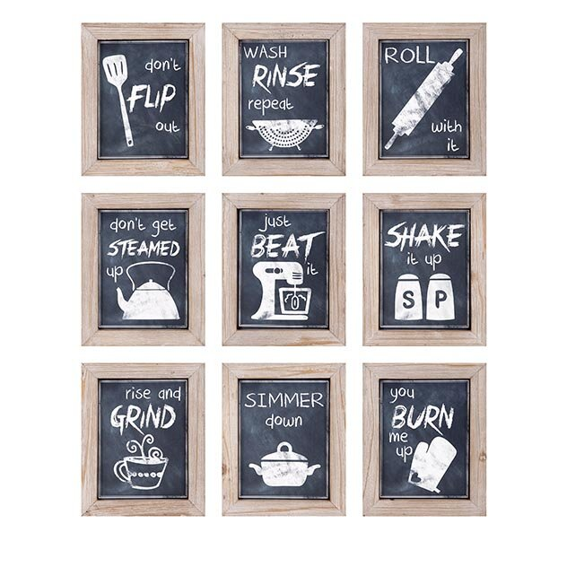 9 Piece Kitchen Inspirations Wall Decor