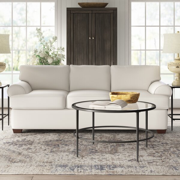Deals 89 Recessed Arm Sofa Bed by Birch Lane™ Heritage