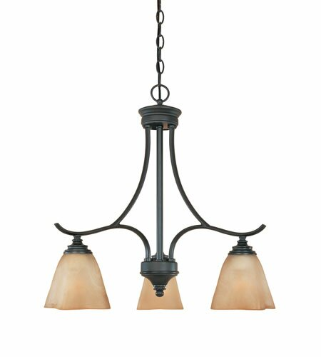 Holm 3-Light Shaded Wagon Wheel Chandelier by Charlton Home Charlton Home