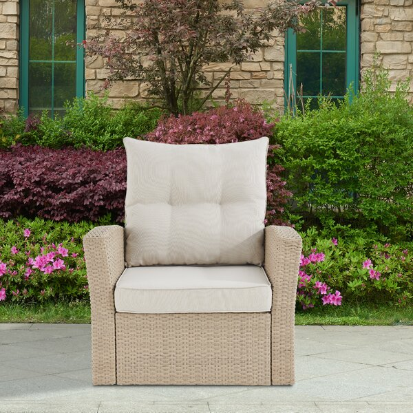 Pangkal Pinang Patio Chair with Cushions by Highland Dunes