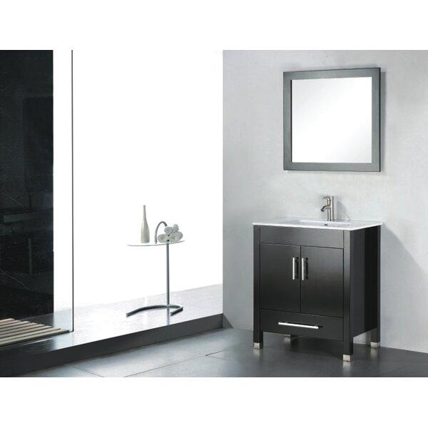 Vidya 24 Single Wood Bathroom Vanity Set with Mirror by Latitude Run