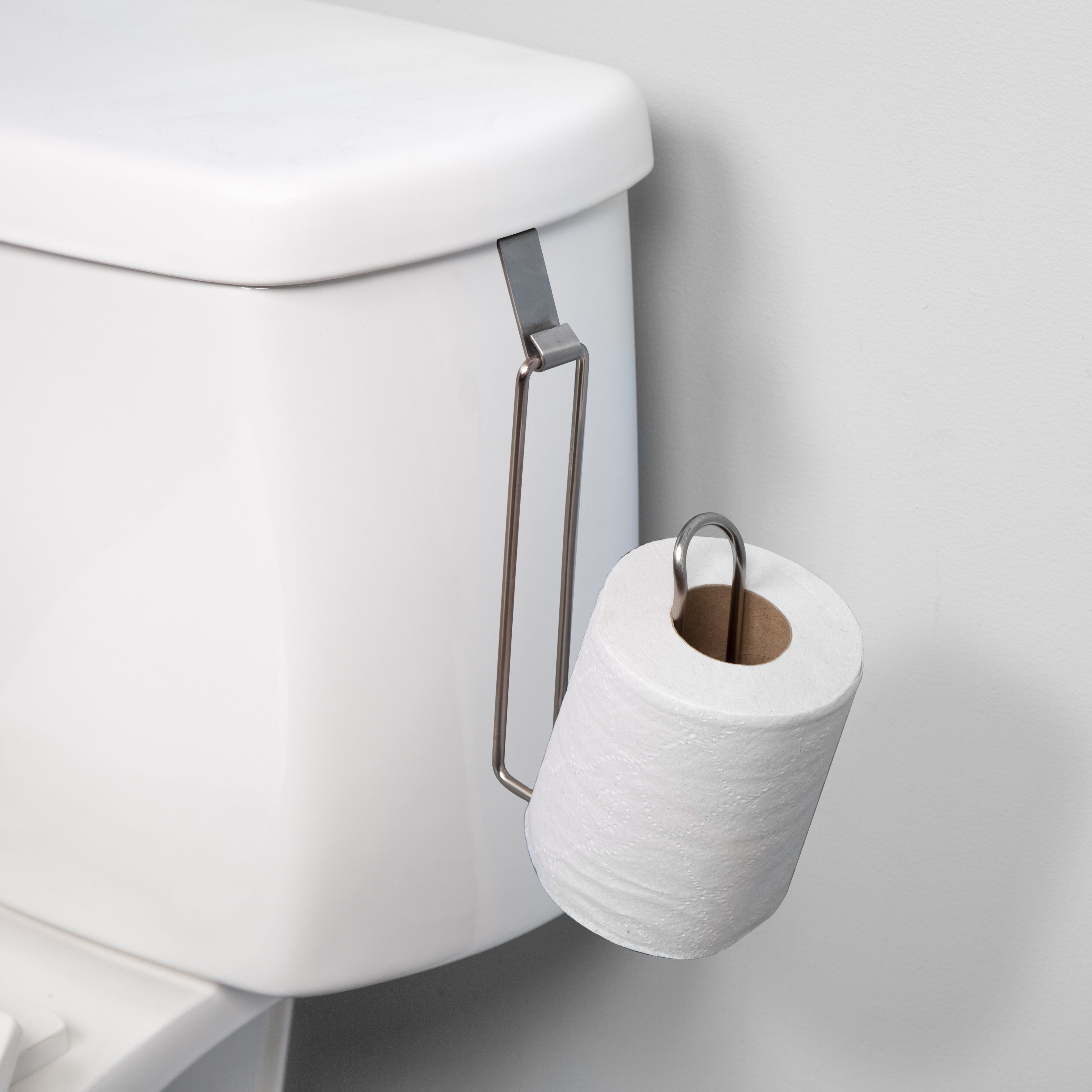 RV Self Adhesive Toilet Paper Holder Wall Mount Mounted Dispenser Nickel Brushed