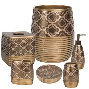 6 Piece Medallion Bath Accessory Set
