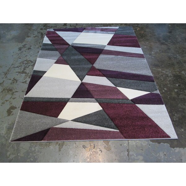 Santa Barbara Large Gray/Purple Area Rug by Orren Ellis