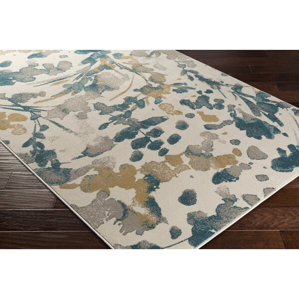 Falco Beige/Green Area Rug by Charlton Home