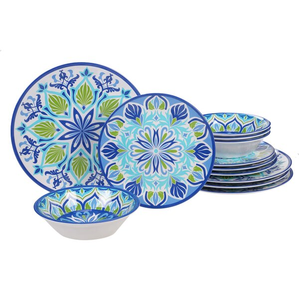 Hoehne 12 Piece Melamine Dinnerware Set, Service for 4 by Alcott Hill