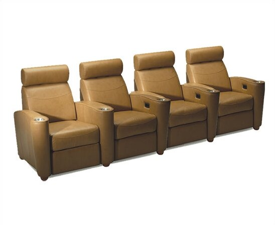 Diplomat Leather Home Theater Row Seating (Row Of 4) By Bass