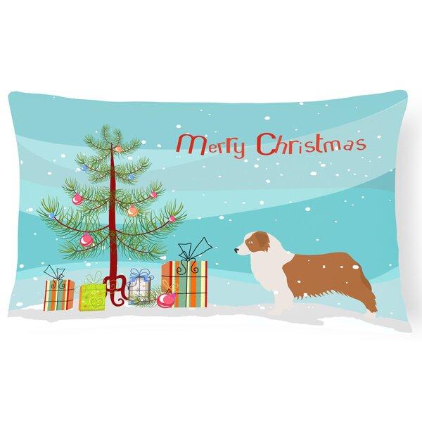 Australian Shepherd Indoor/Outdoor Lumbar Pillow by The Holiday Aisle