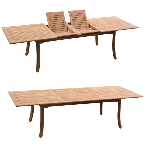 Olmead Luxurious 11 Piece Teak Dining Set by Rosecliff Heights