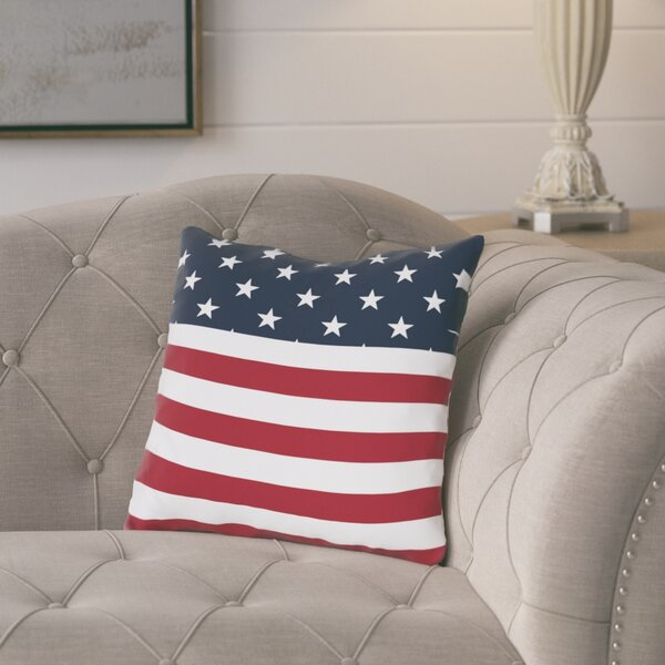 Arnow American Flag Throw Pillow by August Grove