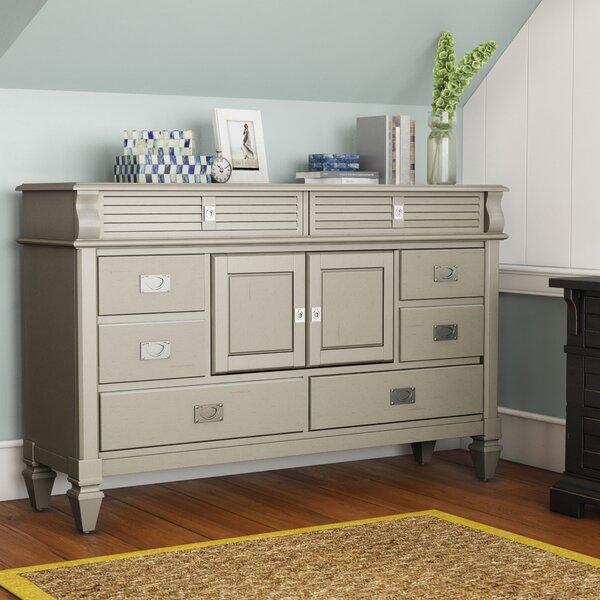 Vasilikos Antique 8 Drawer Combo Dresser by Beachcrest Home