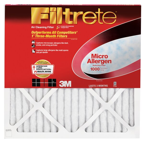Micro Allergen Reduction Air Conditioner Air Filter (Set of 6) by 3M