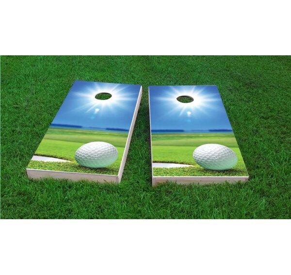 Sunny Golf Cornhole Game Set by Custom Cornhole Boards