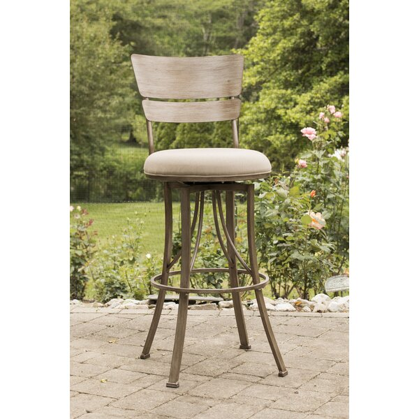 Ilyana 26 Swivel Indoor/Outdoor Patio Bar Stool by August Grove