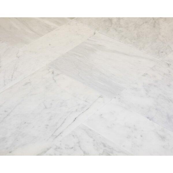 6 x 12 Marble Field Tile in Carrara by Ephesus Stones