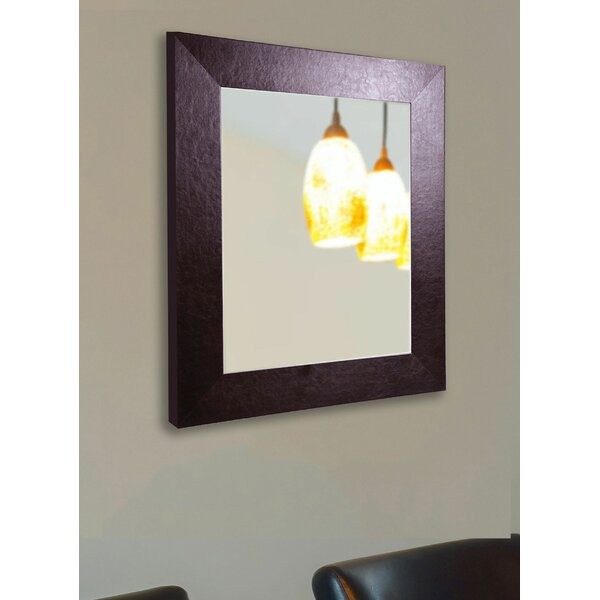 Rectangle Leather Wall Mirror by Darby Home Co