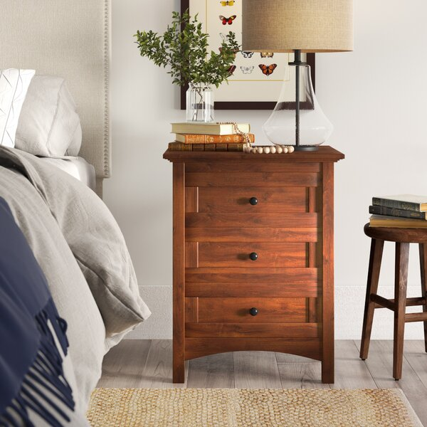 Calila 3 Drawer Nightstand by August Grove