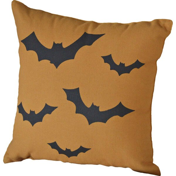 Halloween Bats Throw Pillow by The Holiday Aisle