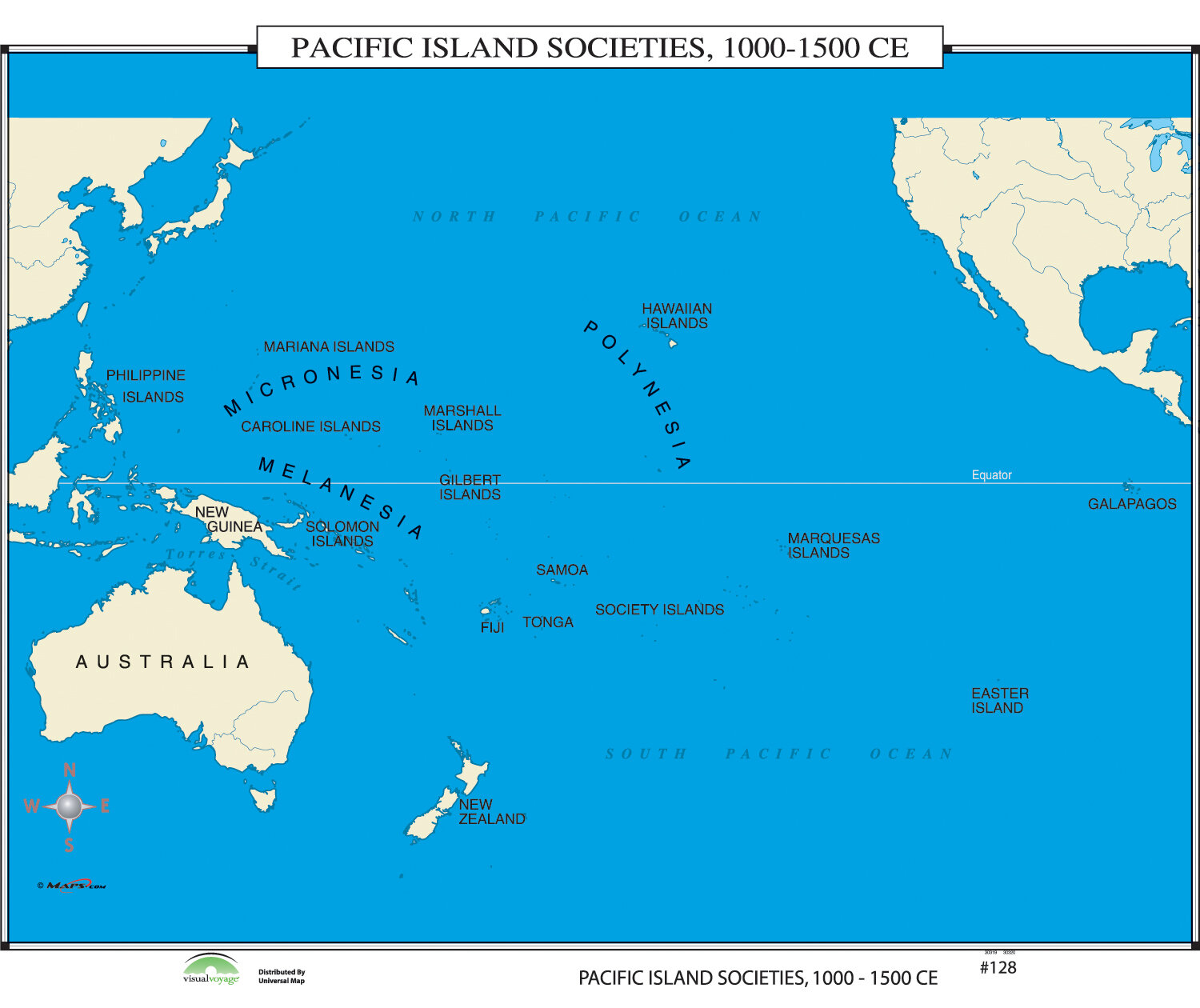 Universal Map World History Wall Maps Pacific Island Societies