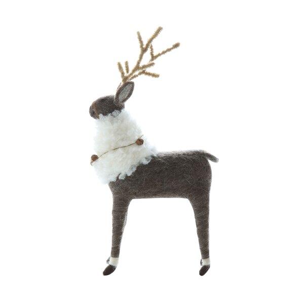 Beckman Wool Felt Reindeer by The Holiday Aisle
