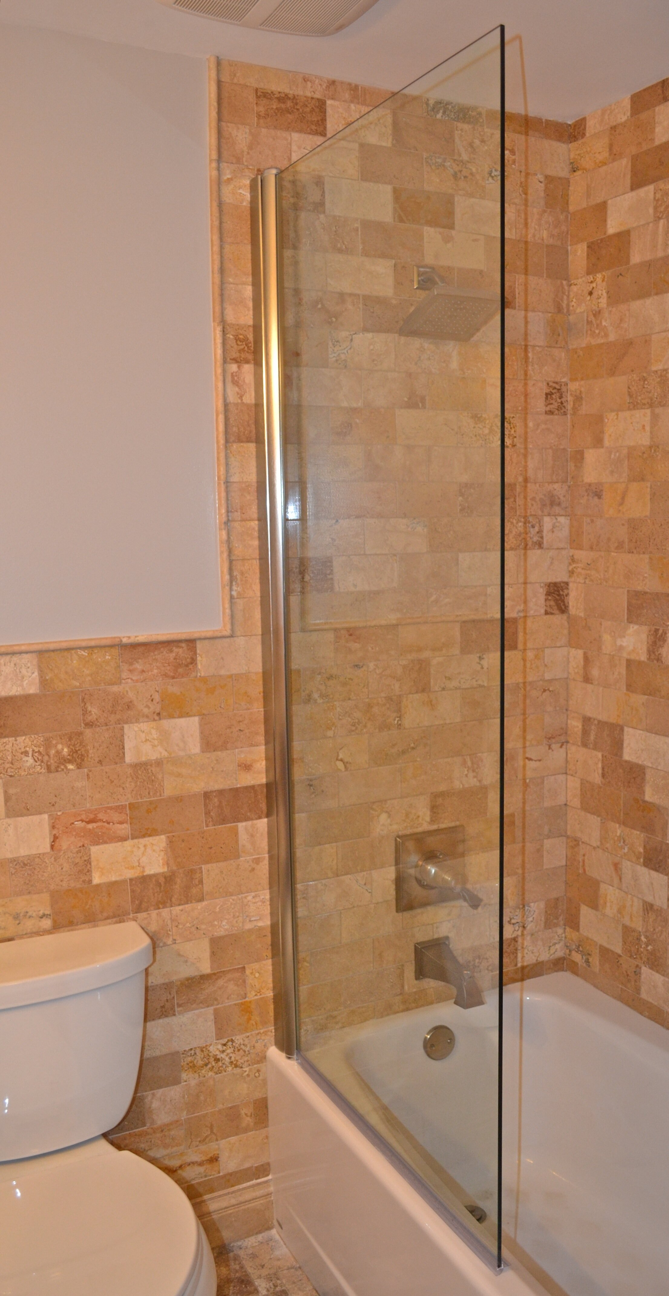 30 X 70 Pivot Semi Frameless Tub Door With Clearshield Technology