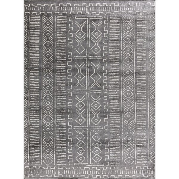 Butler Moroccan Design Gray/Ivory Area Rug by Union Rustic