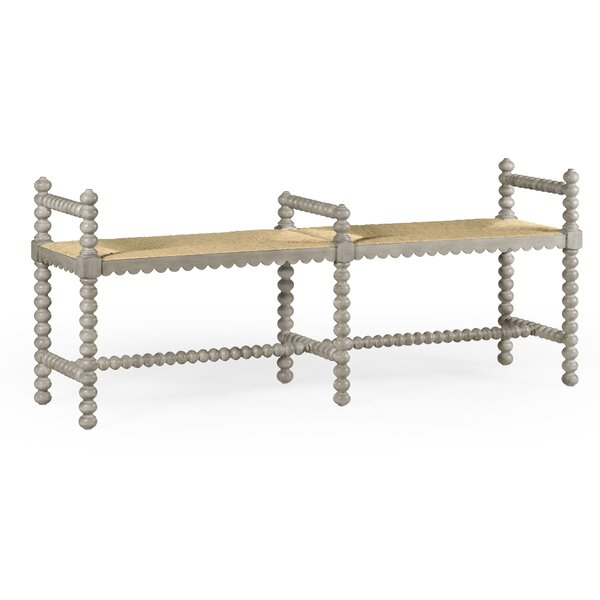 Bellingham Double Wood Bench by Jonathan Charles Fine Furniture