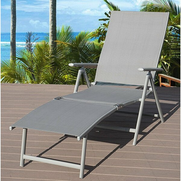 Otterbein Folding Reclining Adjustable Chaise Lounge by Winston Porter