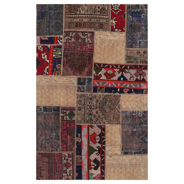 One-of-a-Kind Larkste Hand-Knotted Wool Brown Area Rug by Bloomsbury Market