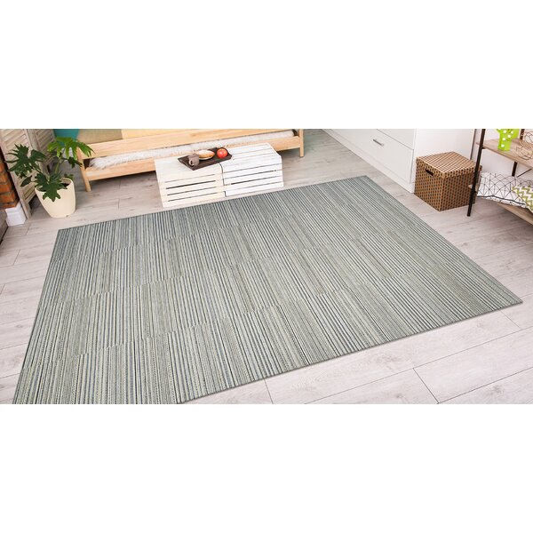 Napa Light Blue and Gold Indoor/Outdoor Area Rug by Trent Austin Design