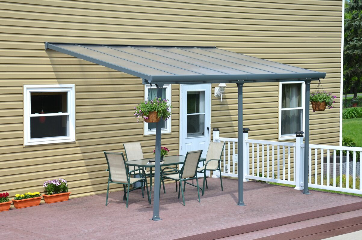 Palram Feria 14 Ft W X 9 5 Ft D Patio Awning Amp Reviews