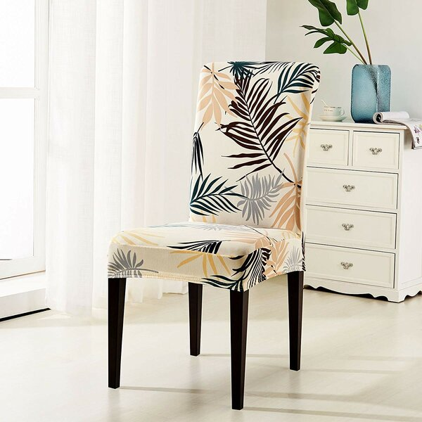 Printed Leaf Dining Chair Slipcover (Set of 4) by Bayou Breeze
