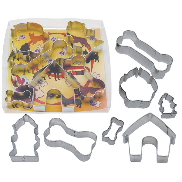 7 Piece Dog Bone Cookie Cutter Set by R & M International Corp.