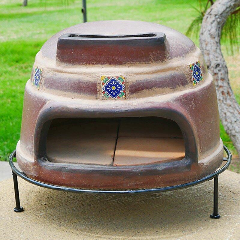 Talavera Tile Clay Pizza Oven