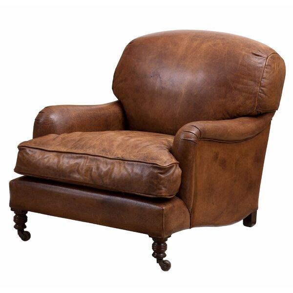 Highbury Tobacco Leather Club Chair by Eichholtz Eichholtz