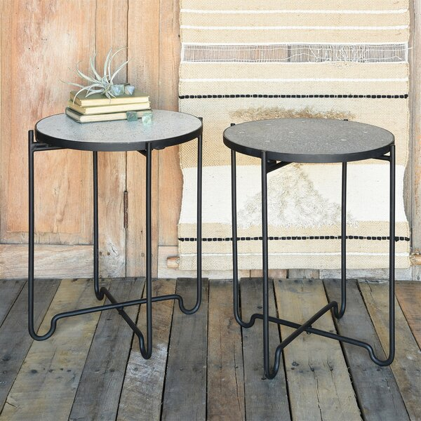Lonan Iron and Side End Table by Williston Forge