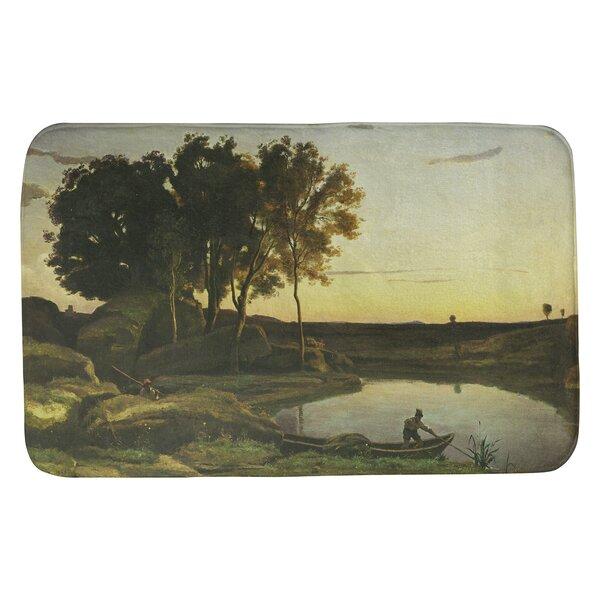 Boyter Lake and Boatman Rectangle Non-Slip Bath Rug