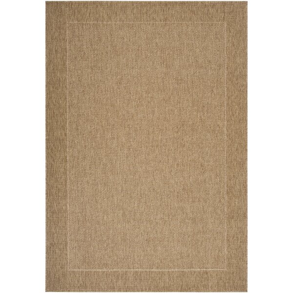 Brockton Camel/Dark Brown Indoor/Outdoor Area Rug by Bay Isle Home