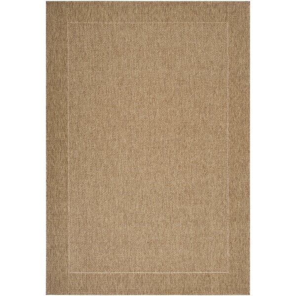 Brockton Camel/Dark Brown Indoor/Outdoor Area Rug