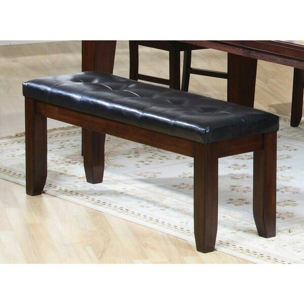 Rensselear Faux Leather Bench by Winston Porter