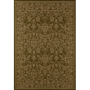 Price comparison Beaminster Green/Beige Indoor/Outdoor Area Rug By Fleur De Lis Living