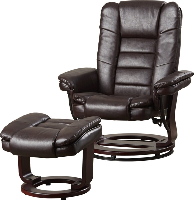 Manual Swivel Recliner with Ottoman  sc 1 st  Wayfair : recliner ottoman - islam-shia.org