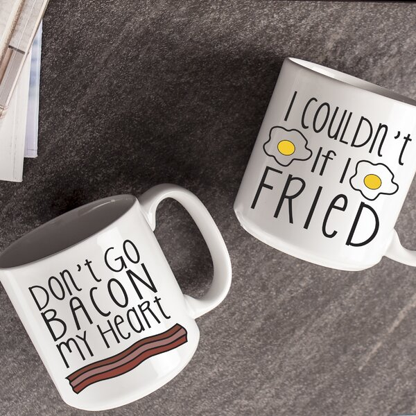 20 Oz. Bacon and Eggs Coffee Mug Set by Cathys Concepts