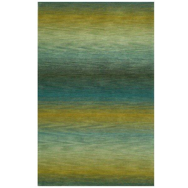 Belding Hand-Tufted Wool Blue/Gold Area Rug by Brayden Studio