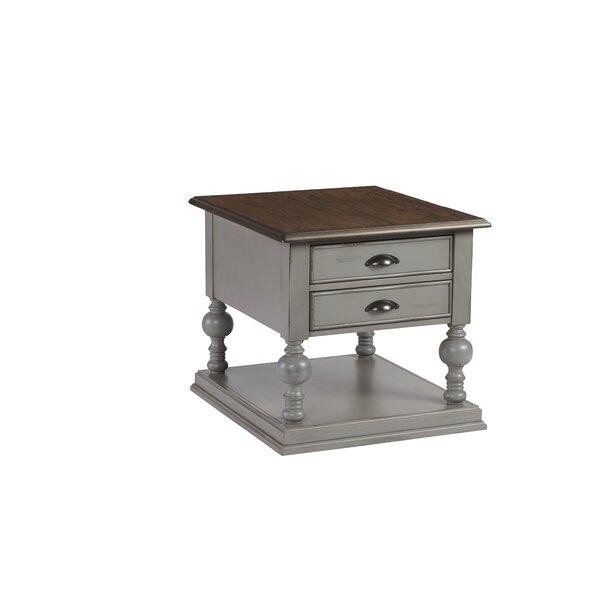 Sandbach Floor Shelf End Table With Storage By Three Posts