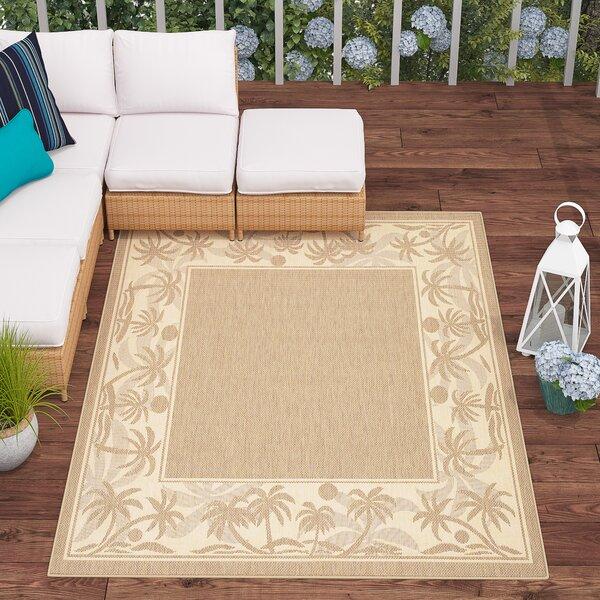Julia Beige/Brown Indoor/Outdoor Area Rug by Beachcrest Home