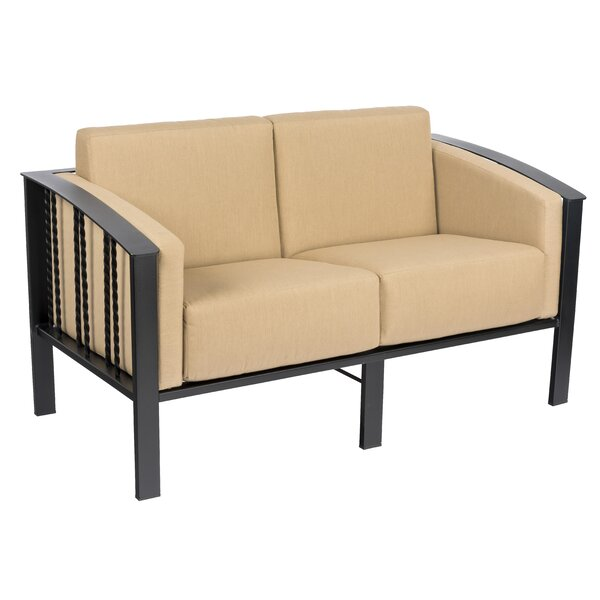 Comstock Loveseat with Cushions by Woodard