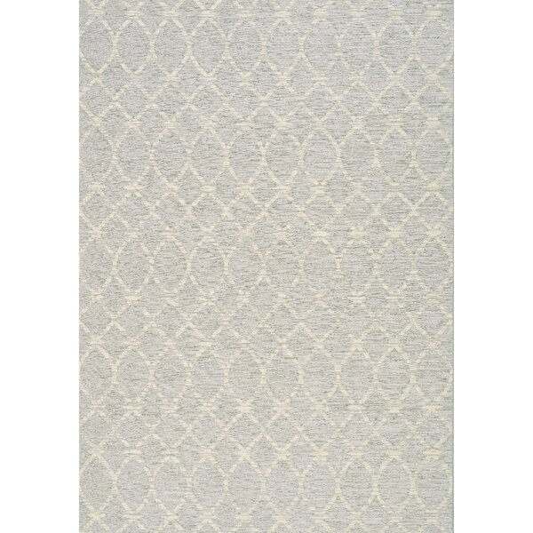Kaela Neutral Waves Outdoor Gray Area Rug by Brayden Studio